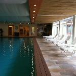 vue piscine et transats