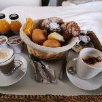 """The """"mandatory"""" breakfast in bed...poor us!"""