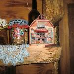 U Babci Maliny little dolls and stuff on display