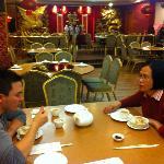 My wife Jane and Son Kenneth enjoying Dim Sum at Breakfast