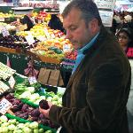 Chef Burdette checking out local produce