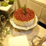 Savory Artichoke & Basil Cheese Cake w/ Chardonnay Tomato Preserve