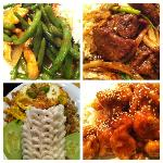 Chicken with string beans, Mongolian Beef, Javanese Fried Rice and Sesame chicken