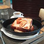 almond brioche french toast at BLT Steak