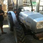 Antonello, with the Lamborghini Tractor at Via Piana.
