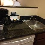 kitchen sink and coffee machine