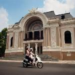 Driving past the Saigon Opera House