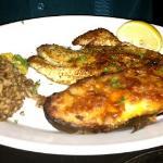 Blackened fish plate