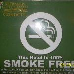 Property is 100% smoke free/Off limits to smokers
