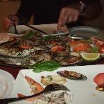 Mixed grilled fish for two people. Amazing.