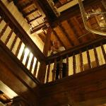 The interior of the hotel is all wooden