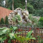 artificial fountain in the courtyard