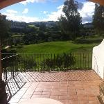 Terrasse und Aussicht aus Zimmer 103