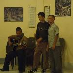 locals perform in the evening