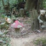 Goblins hiding on the woodland walk