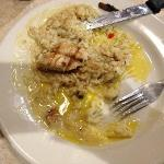 chicken and rice grease plate!