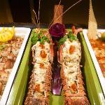 Lobsters in main buffet