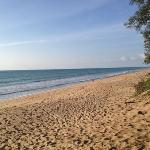 View of Mai Khao beach at the edge of the Marriott property. beautiful but rough!