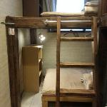 3-tier wooden rack and bedlight