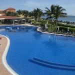Activity pool and Villa Marina from lobby