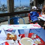 Clam Chowder and Fish and Chips at Chowders, Pier 39, San Francisco