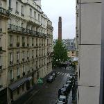 From our room looking up street
