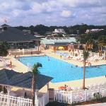 Sandy Harbor Family Fun Center features several pools.