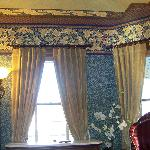 View inside room - great period wallpaper