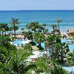 beach next to pool