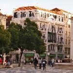 View of hotel from Rossio Square
