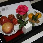 Small tray of fruit was provided daily