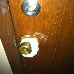 ajoining door
