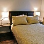Garden View Room - An intimate room with full size bed and view of Allie's Inn garden
