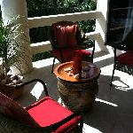 Patio off of room