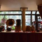 Guest  lounge full of wonderful knick-knacks
