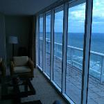Penthouse oceanfront looking northward