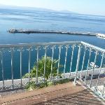 View from balcony towards port