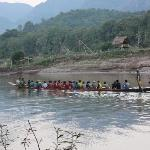 Group of boys training for local boat race