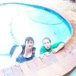My son and I in the pool