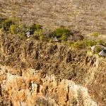 The chalets are built right on the edge of the gorge, 250 metres above the Zambezi river