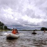 Canoeing along the Zambezi river - this activity can be arranged for our guests