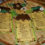 Carte original du restaurant