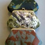 Silk limited edition Bleuet silk purses.