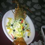 Lobster on the seafood buffet