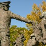 A large number of sculptures in Ingram Park depict scenes from the 1960s