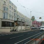 the view of the Claremont hotel from the Tram Stop PLEASANT STREET