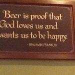 Sign on the wall at Timothy O'Tooles in Gurnee, IL
