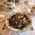 pecan beet salas with goat cheese