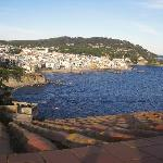 view from hotel toward Palafrugell