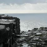 Dun Aengus fort and cliffs